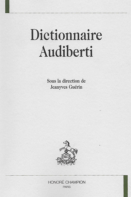 <p><em>« Abraxas »</em>, in <em>Dictionnaire Audiberti</em></p>